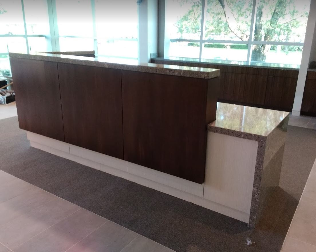 RECEPTION DESK INSTALL
